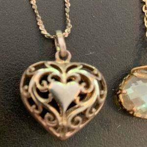 Sterling Silver Chain & Heart Pendant 925 Stamp